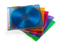 Disques d'ordinateur dans des cadres multiciolored Photos stock