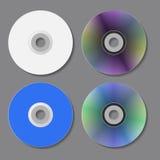 Disques de CD de DVD Illustration de vecteur Photographie stock libre de droits