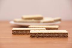 Disques de chocolat Photos libres de droits