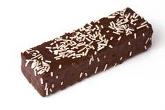 Disques de chocolat d'isolement sur le fond blanc Images stock