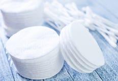 Disques de coton Photos libres de droits