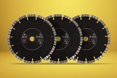 Disques de coupe avec des diamants - disques de diamant pour l'isolat concret Photos stock