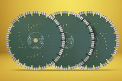 Disques de coupe avec des diamants - disques de diamant pour l'isolat concret Photos libres de droits
