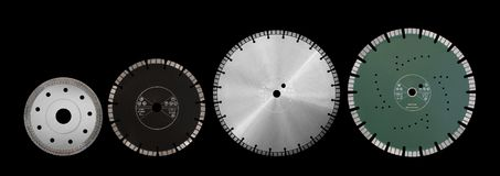 Disques de coupe avec des diamants - disques de diamant pour l'isolat concret Image libre de droits