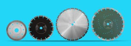 Disques de coupe avec des diamants - disques de diamant pour l'isolat concret Photo libre de droits