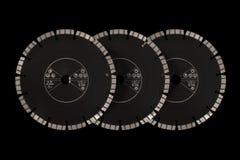 Disques de coupe avec des diamants - disques de diamant pour l'isolat concret Photographie stock