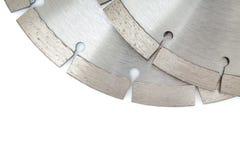 Disques de coupe avec les diamants - disques de diamant pour le béton d'isolement sur le fond blanc Photos libres de droits