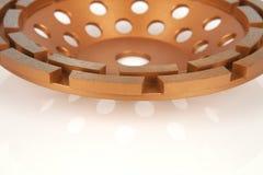 Disques de coupe avec les diamants - disques de diamant pour le béton d'isolement sur le fond blanc Photographie stock libre de droits