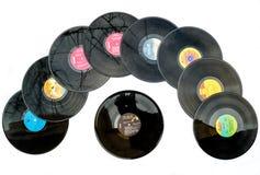 disques de disco de vinyle des années 70 photo libre de droits
