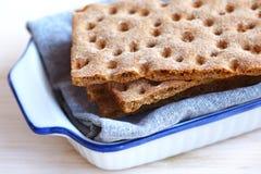 Disques de pain suédois de chips de seigle Images libres de droits