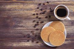 Disques et café Images stock
