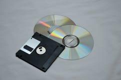 Disques et disquette Images stock