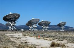 Disques par radio de CONTACT dans le désert du Mexique Images libres de droits