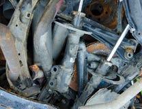 Disques rouillés inutiles et portés de frein Photographie stock libre de droits