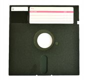 Disquete velha 5 25 polegadas isoladas no branco Imagem de Stock