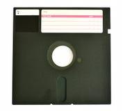 Disquete viejo 5 25 pulgadas aisladas en blanco Imagen de archivo