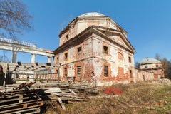 Disrepair budynku stara architektura Zdjęcia Royalty Free