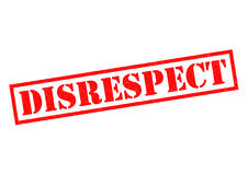 DISRESPECT Rubber Stamp Royalty Free Stock Photo