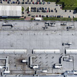 Disribution warehouse roof  from above Royalty Free Stock Photography