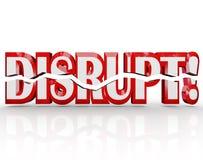 Disrupt 3D Word Change Paradigm Shift Revolution Royalty Free Stock Images