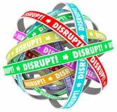 Disrupt Change Upset Status Quo Loop Process Stock Photos