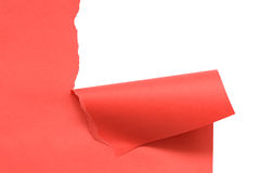 Disrupt Red Paper. Abstract background made from disrupt red paper sheet. Image with clipping path Stock Photography