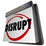 Disrupt Status Quo Calendar New Idea Innovation Stock Image