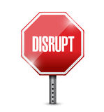 Disrupt street sign illustration design Royalty Free Stock Image