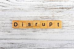 DISRUPT word made with wooden blocks concept royalty free stock photography