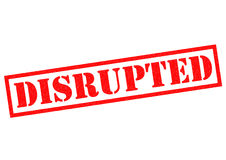 DISRUPTED Royalty Free Stock Photos