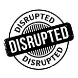 Disrupted rubber stamp Stock Photography