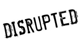 Disrupted rubber stamp Stock Images