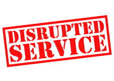 DISRUPTED SERVICE Stock Images