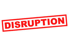 DISRUPTION Royalty Free Stock Photo