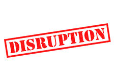 DISRUPTION Rubber Stamp Royalty Free Stock Image
