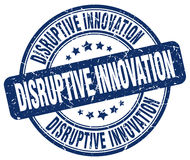 Disruptive innovation blue stamp Royalty Free Stock Images