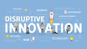 Disruptive innovation concept. royalty free illustration