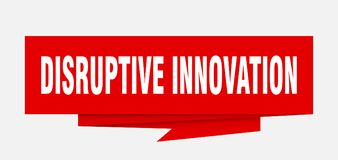 Disruptive innovation. Sign.  paper origami speech bubble.  tag.  banner royalty free illustration