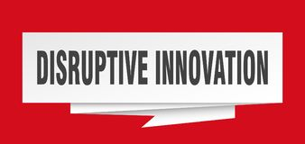 Disruptive innovation. Sign.  paper origami speech bubble.  tag.  banner vector illustration
