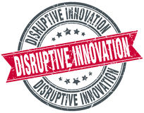 Disruptive innovation round grunge stamp Stock Image
