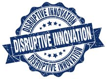 Disruptive innovation seal. stamp. Disruptive innovation round seal isolated on white background. disruptive innovation stock illustration