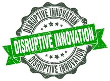 Disruptive innovation seal. stamp. Disruptive innovation round seal isolated on white background. disruptive innovation vector illustration