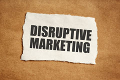Disruptive marketing concept. Title printed on paper scrap Royalty Free Stock Photos