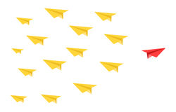 Disruptive paper plane concept. Disruptive color paper planes concept Royalty Free Stock Photo