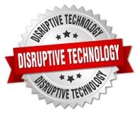 Disruptive technology badge. Disruptive technology round badge with ribbon royalty free illustration