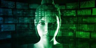 Disruptive Technology. And Digital Technologies Changing Life stock illustration