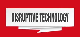 Disruptive technology. Sign.  paper origami speech bubble.  tag.  banner stock illustration