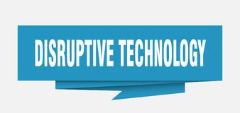 Disruptive technology. Sign.  paper origami speech bubble.  tag.  banner royalty free illustration