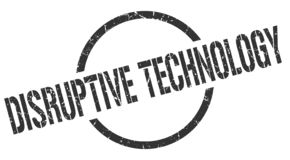 Disruptive technology stamp. Disruptive technology round grunge stamp. disruptive technology sign. disruptive technology vector illustration