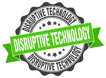 Disruptive technology seal. stamp. Disruptive technology round seal isolated on white background. disruptive technology vector illustration